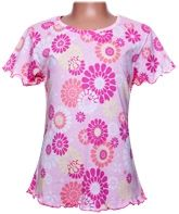 Half Sleeves Top - Flower