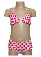 Two Piece Swimwear With Polka Dots Print