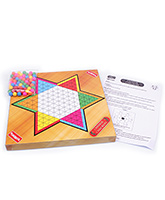 Funskool - Classic Chinese Checkers 6 Years+, 2-6 Players, A High Quality Set With Woode...