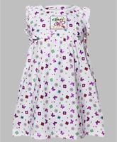 Sleeveless Frock - Butterfly Print
