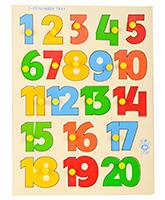 Skillofun Wooden Numerical Shape Tray Numbers 1 - 20