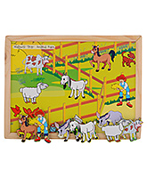 Magnetic Twin Play Tray - Animal Barn