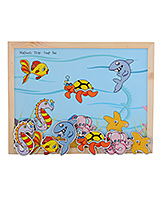 Wooden And Magnetic Twin Play Tray Deep Sea 3 Years+, This wooden and magnetic toy will engage y...