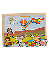 Skillofun - Magnetic Twin Play Tray - Rainbow Scene