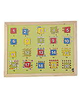 Skillofun - Wooden And Magnetic Twin Play Tray Number Scene 1-20