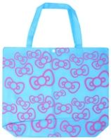 Multi-Utility Bag -Pink Bow Print Blue