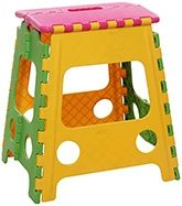Folding Stool - Yellow & Pink