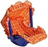Fab n Funky - Carrycot Orange Checker Print