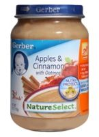 Gerber - Nature Select 3rd Food Apple & Cinnamon With Oatmeal