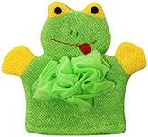 Bath Glove - Frog Pattern Green & Yellow