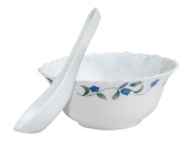 Diva Fluted 12 Pieces Soup Set - Juniper Blue