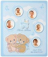 Bear Print Photo Album - Blue