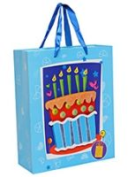 Buy Party Bag - Cake Print Blue