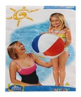 Intex Beach Ball - Blue 3 Years+, 51 Cm, Sturdy Glossy Ball