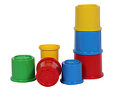 Funskool - Stacking Drums 12 Months, Matching colors, Shapes and Sizes