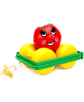 Funskool - Apple Turn Over 1 - 3 Years , Toddlers Fun Filled Pull Toy