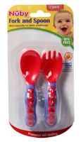 Nuby - Fork And Spoon Set 2 Pack, BPA Free, Sized Especially For Child's Small...
