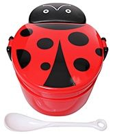 Lady Bug Pattern Lunch Box Attractive And Durable Lunch Box!!