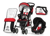 Hauck - Stroller Jeep Shopper 6- Set Red Black