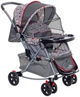 Baby Pram Grey C - 12 Easy And Comfortable Pram With 3 Reclining Position ...
