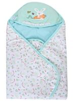 Fab n Funky - Sleeping Bag Cute Rabbit Print Aqua