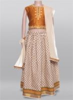 Ghagra With Sleeveless Choli & Dupatta