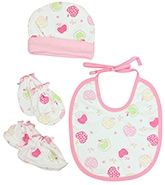 Baby Cap And Booty And Bib Set