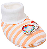 Buy Cute Walk Baby Booties - Orange