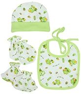 Bonnet Set With Bib