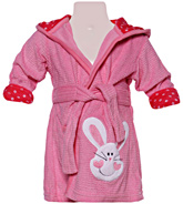 Carters - Bathrobe with Hood And Rabbit Print