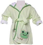Carters - Bathrobe with Hood And Frog Print