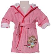 Carters - Bathrobe with Hood And Monkey Print