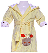Carters - Bathrobe with Hood And Giraffe Print