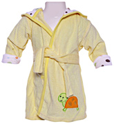 Carters - Bathrobe With Hood And Tortoise Print