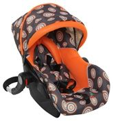 Car Seat With Adjustable Canopy Orange - Grey, Comfortable Car Seat With 3 Point Har...
