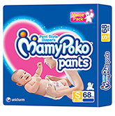 Mamy Poko Pants Pant Style Diapers Small - 68 Pieces