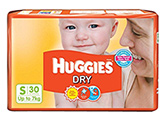 Huggies Dry Diapers Small - 30 Pieces