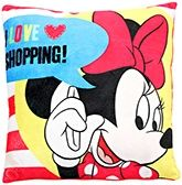 I Love Shopping Cushion Red Color Micky Image