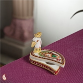 Aapnorajasthan - Painted Marble Roli Tika Holder