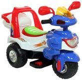 Fab N Funky  -  Ride On Bike Blue & White 3 Years+, A Fantastic Vehicle For Your Little One