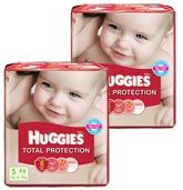 Huggies Total Protection S (Upto 7 Kg), 46 Pieces (Combo pack of 2)
