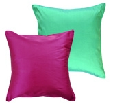 MeSleep Cushion Covers - Wine and Green (Set of 2)