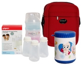 Combo pack of  Milk Powder Container, Breastmilk Storage Bottles,Warmer Can &  Therma Bag (Pack of 4)