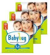 Baby Hug - 7 In 1 Premium Baby Diapers Large, 9 - 14 Kgs, 36 Pieces (Combo Pack Of 3)