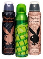 Playboy Play It Sexy and Play It Spicy Deo with F5 Esc Deodorant (Combo Pack of 3)