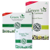 LaPlant Green Tea - 25 Tea Bags with LaPlant Green Tea And Lemon