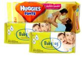 Huggies - Pants L (8-14 kg), 38 Pants with 2 Baby Hug - Premium Baby Wipes 40 Pieces combo (Set of 3)