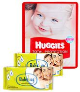 Huggies Total Protection L (8 - 14 Kg), 48 Pieces with 2 Baby Hug - Premium Baby Wipes 40 Pieces combo (Set of 3)