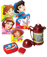 Thermos Animal Water Bottle with Lunch Box & Fancy Story Board Book(Pack of 3)