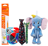Dumbo Bag with Camlin Dark Pencil,2 in 1 Eraser,Baby Tie & Bracelet(Pack of 5)